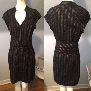 Guess black pin striped dress
